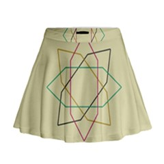 Shape Experimen Geometric Star Sign Mini Flare Skirt