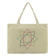Shape Experimen Geometric Star Sign Medium Tote Bag