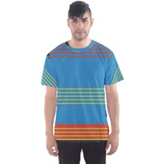 Sketches Tone Red Yellow Blue Black Musical Scale Men s Sport Mesh Tee