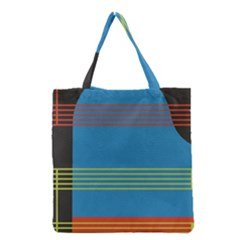 Sketches Tone Red Yellow Blue Black Musical Scale Grocery Tote Bag