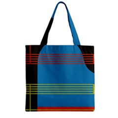 Sketches Tone Red Yellow Blue Black Musical Scale Zipper Grocery Tote Bag