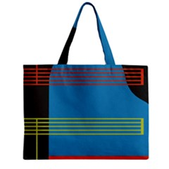 Sketches Tone Red Yellow Blue Black Musical Scale Zipper Mini Tote Bag