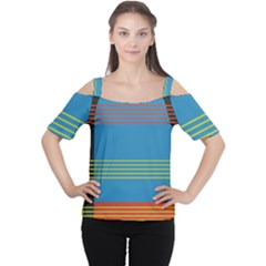 Sketches Tone Red Yellow Blue Black Musical Scale Women s Cutout Shoulder Tee