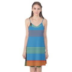 Sketches Tone Red Yellow Blue Black Musical Scale Camis Nightgown