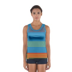 Sketches Tone Red Yellow Blue Black Musical Scale Women s Sport Tank Top