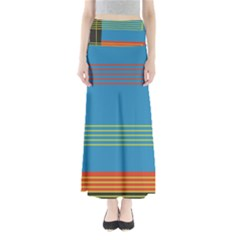 Sketches Tone Red Yellow Blue Black Musical Scale Maxi Skirts
