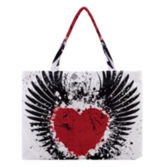 Wings Of Heart Illustration Medium Tote Bag