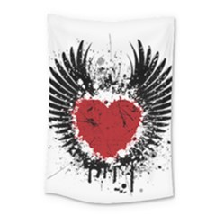 Wings Of Heart Illustration Small Tapestry