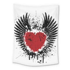 Wings Of Heart Illustration Medium Tapestry