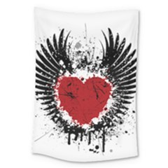 Wings Of Heart Illustration Large Tapestry