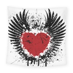 Wings Of Heart Illustration Square Tapestry (large)