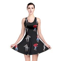 Drake Hotline Bling Black Background Reversible Skater Dress