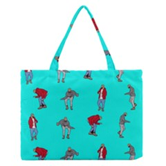 Hotline Bling Blue Background Medium Zipper Tote Bag
