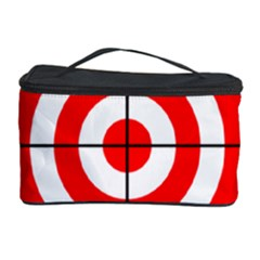 Sniper Focus Target Round Red Cosmetic Storage Case