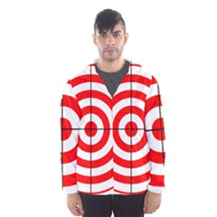 Sniper Focus Target Round Red Hooded Wind Breaker (Men)