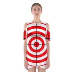 Sniper Focus Target Round Red Shoulder Cutout One Piece