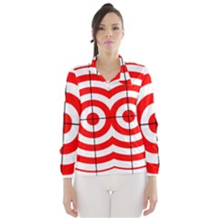 Sniper Focus Target Round Red Wind Breaker (Women)