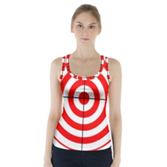 Sniper Focus Target Round Red Racer Back Sports Top