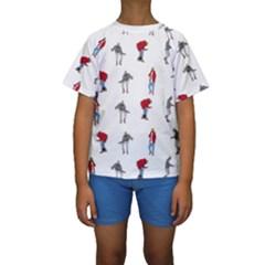 Hotline Bling Kids  Short Sleeve Swimwear