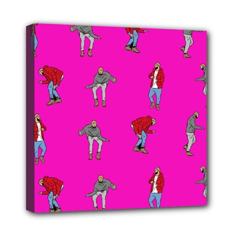 Hotline Bling Pink Background Mini Canvas 8  x 8