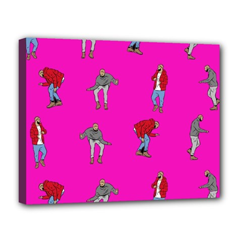 Hotline Bling Pink Background Canvas 14  x 11