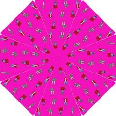 Hotline Bling Pink Background Golf Umbrellas