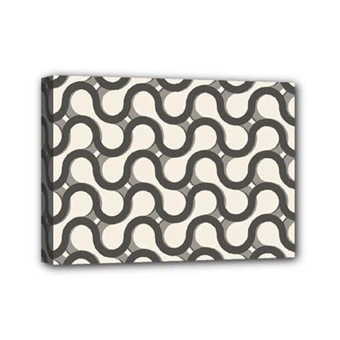 Shutterstock Wave Chevron Grey Mini Canvas 7  x 5