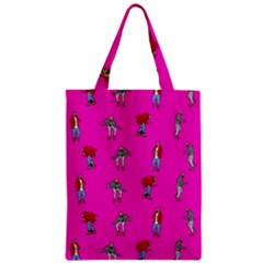 Hotline Bling Pink Background Zipper Classic Tote Bag