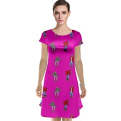Hotline Bling Pink Background Cap Sleeve Nightdress