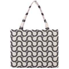 Shutterstock Wave Chevron Grey Mini Tote Bag