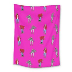 Hotline Bling Pink Background Medium Tapestry
