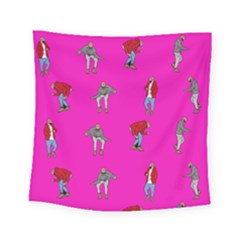 Hotline Bling Pink Background Square Tapestry (small)