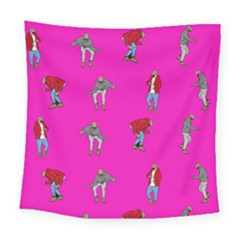 Hotline Bling Pink Background Square Tapestry (large)