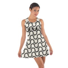 Shutterstock Wave Chevron Grey Cotton Racerback Dress