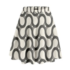 Shutterstock Wave Chevron Grey High Waist Skirt