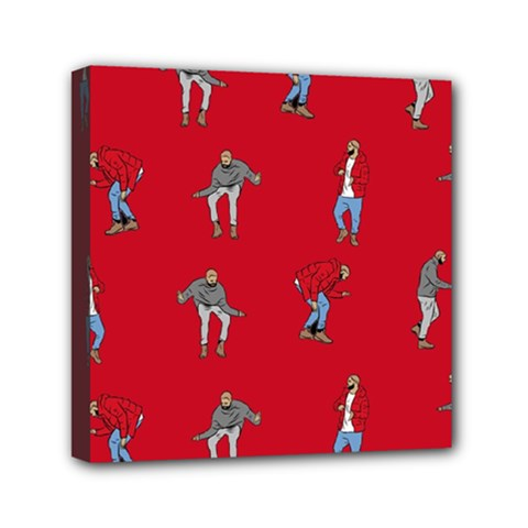 Hotline Bling Red Background Mini Canvas 6  X 6