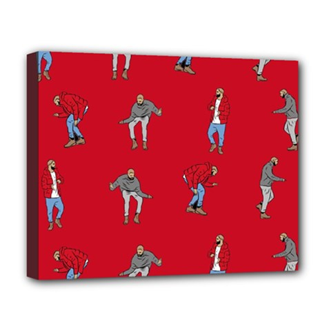 Hotline Bling Red Background Deluxe Canvas 20  x 16