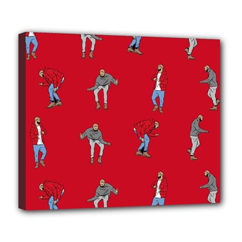 Hotline Bling Red Background Deluxe Canvas 24  x 20