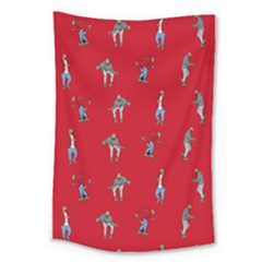 Hotline Bling Red Background Large Tapestry