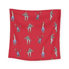 Hotline Bling Red Background Square Tapestry (Small)