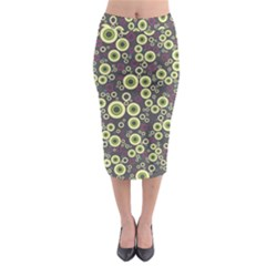 Ring Circle Plaid Green Pink Blue Midi Pencil Skirt