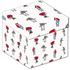 Hotline Bling White Background Storage Stool 12
