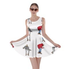 Hotline Bling White Background Skater Dress