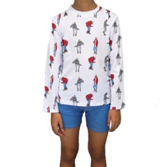 Hotline Bling White Background Kids  Long Sleeve Swimwear