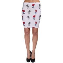 Hotline Bling White Background Bodycon Skirt