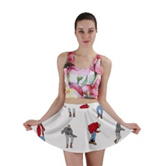 Hotline Bling White Background Mini Skirt