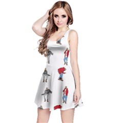 Hotline Bling White Background Reversible Sleeveless Dress