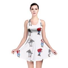 Hotline Bling White Background Reversible Skater Dress