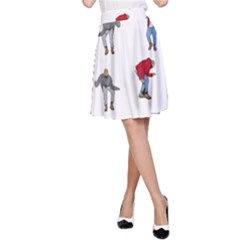 Hotline Bling White Background A-Line Skirt