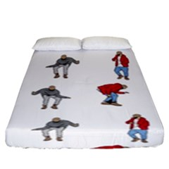 Hotline Bling White Background Fitted Sheet (King Size)